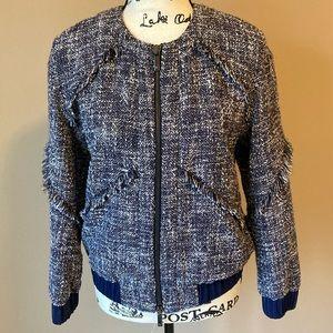 Authentic Diane Von Furstenberg Tweed Jacket -sz P